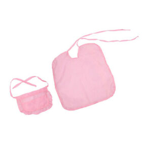 2pc-18inch-Doll-Hair-Care-Beauty-Salon-Hair-Cutting-Cloak-and-Apron-Kit-Pink
