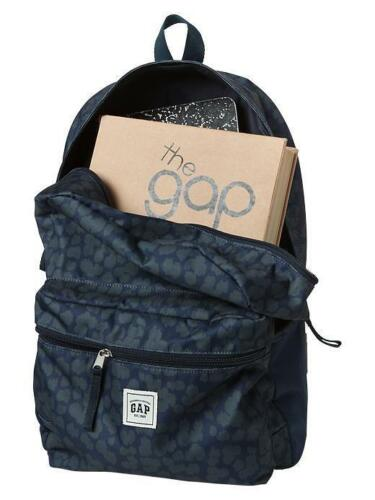 NEW Gap Kids Girls Senior navy blue camouflage School book bag backpack