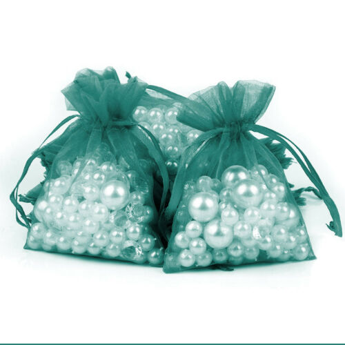 50×Wedding Favour Sheer Gift Bags Jewellery Packing Organza Pouch Candy Gift Bag