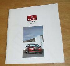 Rover 600 Brochure 1994 - 620 Ti 620i 620 623 Si SLi GSi