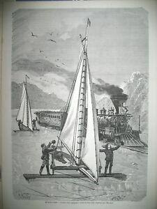 ETATS-UNIS-NEW-YORK-HUDSON-COURSE-TRAINEAU-A-GLACE-TRAIN-MODE-GRAVURES-1872