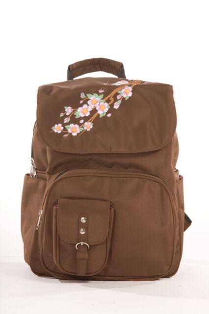 Diaper Bag Designer Backpack Rock N Moms Chic Brown Nwt