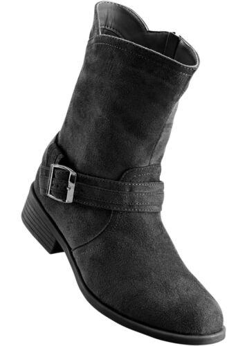 Damen Schöner Stiefel mit Reißverschluss Flach in schwarz Größe 37 NEU