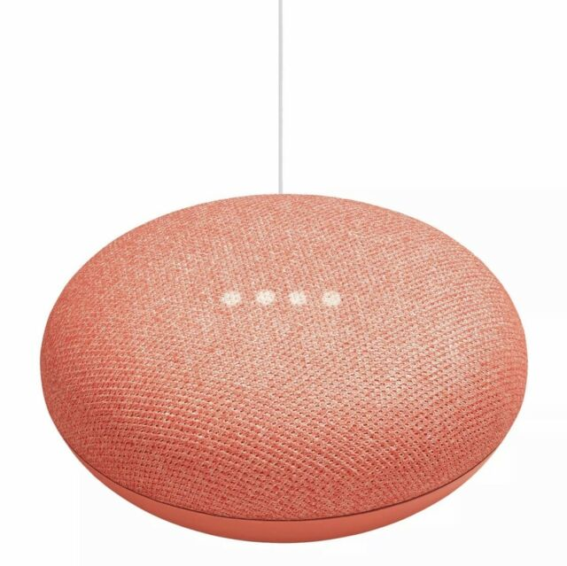 Google Home Mini (1st Generation) - Smart Speaker with Google Assistant - Coral
