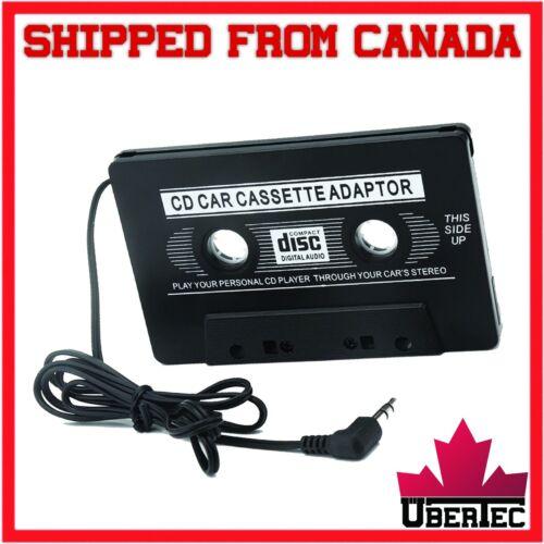 Car Cassette Tape AUX Adapter Converter 3.5mm MP3 iPod Tablet Stereo CD Music