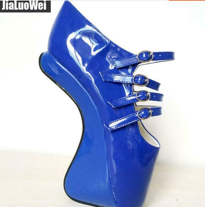 Lady Ballet Super Talon Haut Chaussures Cuir Verni Plateforme Nightclub Party Chaussures