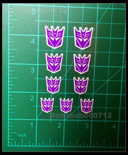 New Decepticons Symbol purple White border stickers set for transformers instock