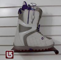 2016 Burton Mint Womens Snowboard Boots Size 7 Desert / Purple