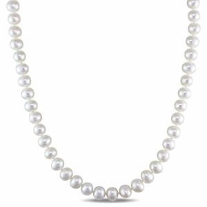 Amour-Sterling-Silver-Freshwater-White-Pearl-Necklace-With-Fisheye-Clasp