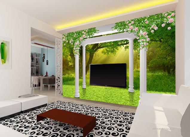 3D Waldwiesen 5 Tapete Tapeten Mauer Foto Familie Tapete Wandgemälde DE