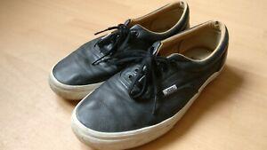 Men-039-s-Vans-Era-Black-Leather-Size-UK10