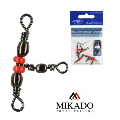 0,68 EUR// 5 x MIKADO AMA-1504 Perlen Kreuzwirbel Dreiwegwirbel T-Wirbel