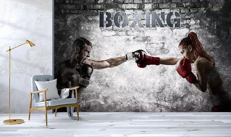 3D Boxing Man 8351 Wall Paper Exclusive MXY Wallpaper Mural Decal Indoor Wall
