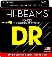 DR Strings MR5-45 HI-BEAM Stainless Steel Bass Guitar Strings, Round Core - Medi