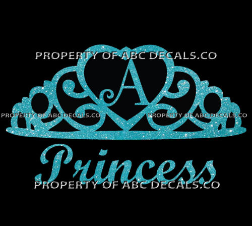 VRS Crown Royal Tiara Queen Princess Heart Love Custom INITIAL A Car Metal Decal