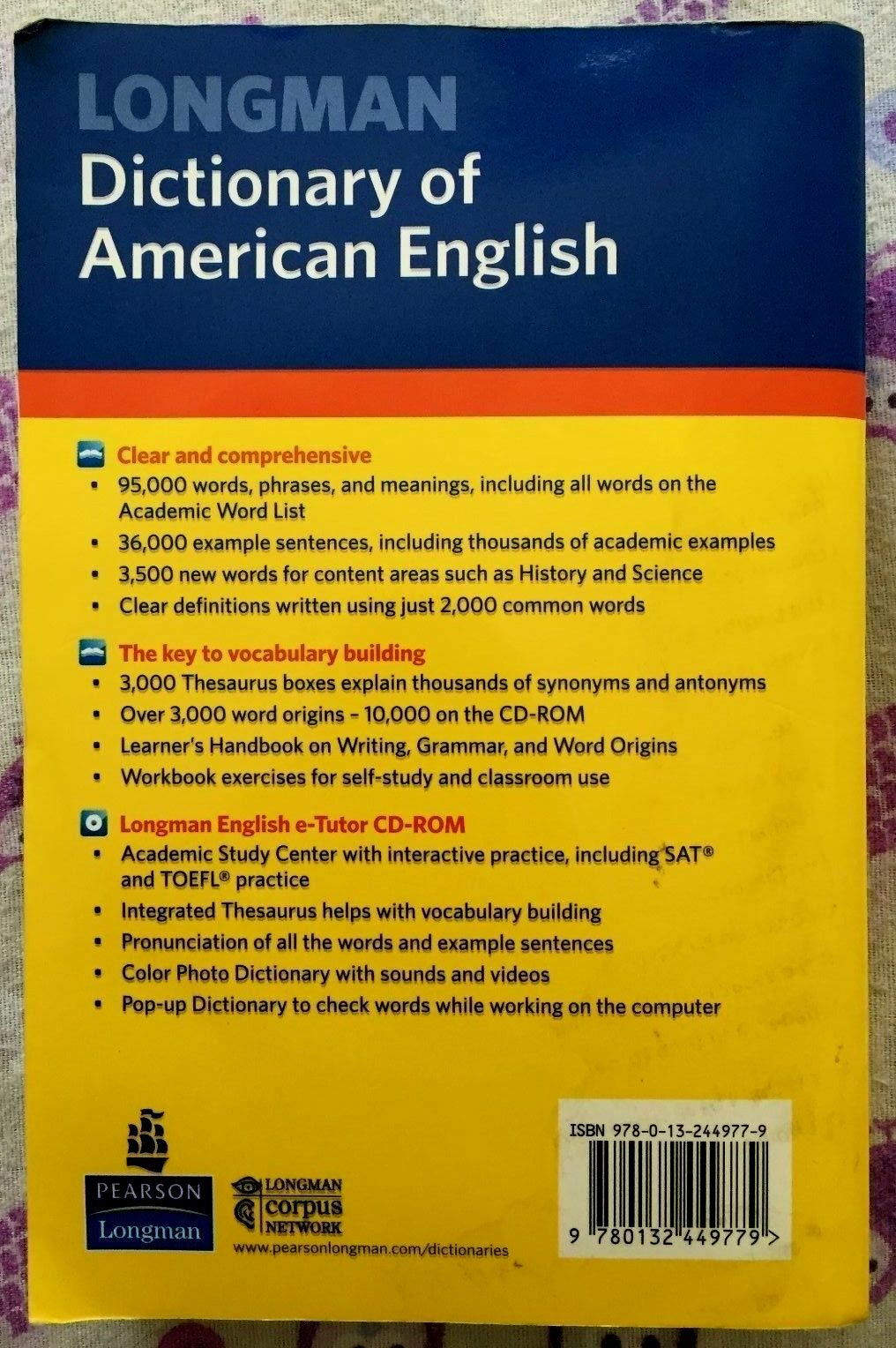 Longman Dictionary Of American English 4th Edition Paperback With