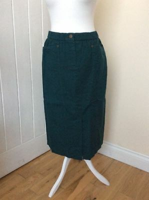 Clothing, Shoes & Accessories Energetic Bnwt 'marisota Magi-fit' Size 20 Dark Teal/green Elasticated Waist Skirt To Help Digest Greasy Food Skirts