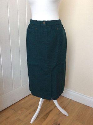 Bnwt 'marisota Magi-fit' Size 28 Dark Teal/green Elasticated Waist Skirt 100% High Quality Materials Skirts Women's Clothing