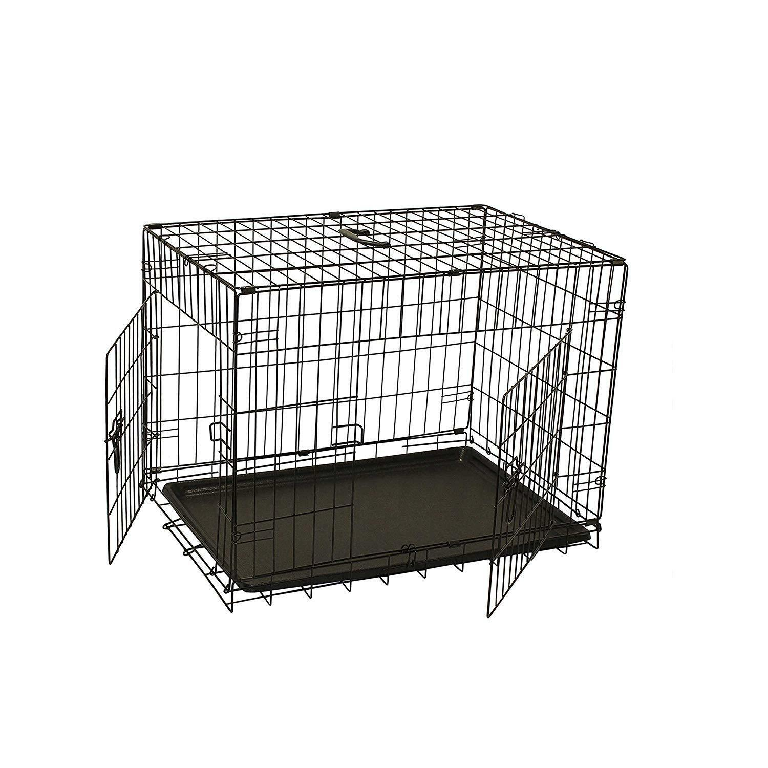 24  Folding Suitcase Dog Cat Crate Cage Kennel Heavy Duty Rust Resistant Steel