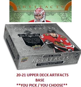 💖 2020-21 Artifacts Upper Deck Base Set Hockey Cards **You Pick**