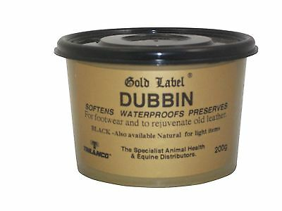 Gold Label Dubbin Equini Cavallo In Cuoio Custodia-mostra Il Titolo Originale
