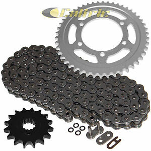 Caltric Drive Chain and Sprockets Kit Compatible with Yamaha R6 YZF-R6 2003 2004 2005