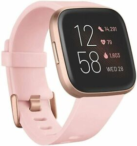 Fitbit Versa 2 Fitness Tracker - Pebble Only, Rose Gold, No Band or Charger