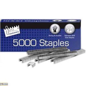 5000-Grapas-Grapadoras-26-6mm-Oficina-Suministros-Estudiante-Negocios-Pesado-GB