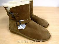 Ladies Girls Kirkland Costco Buckle Sheepskin Shearling Boots Chestnut Uk 4 E40