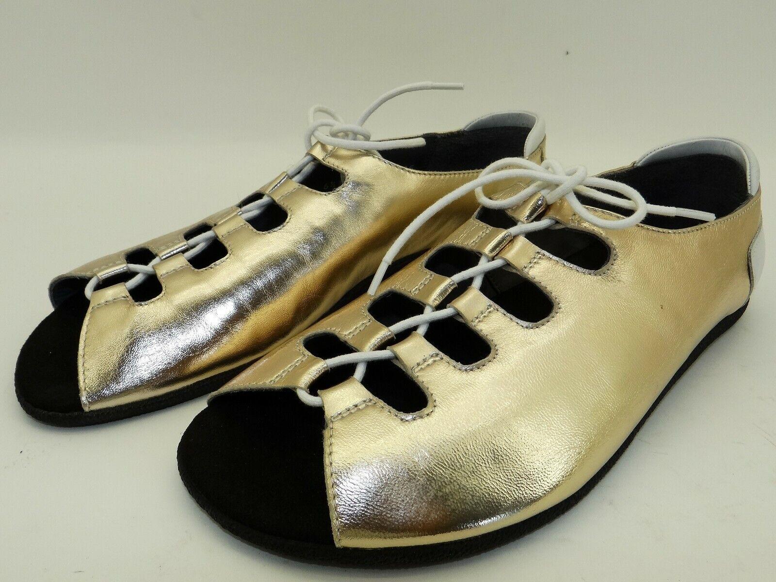 BÄR Damen Sommer Schuhe Ballerinas Riemchen Sandalen Barfuß Slipper Gr. 43  UK 9