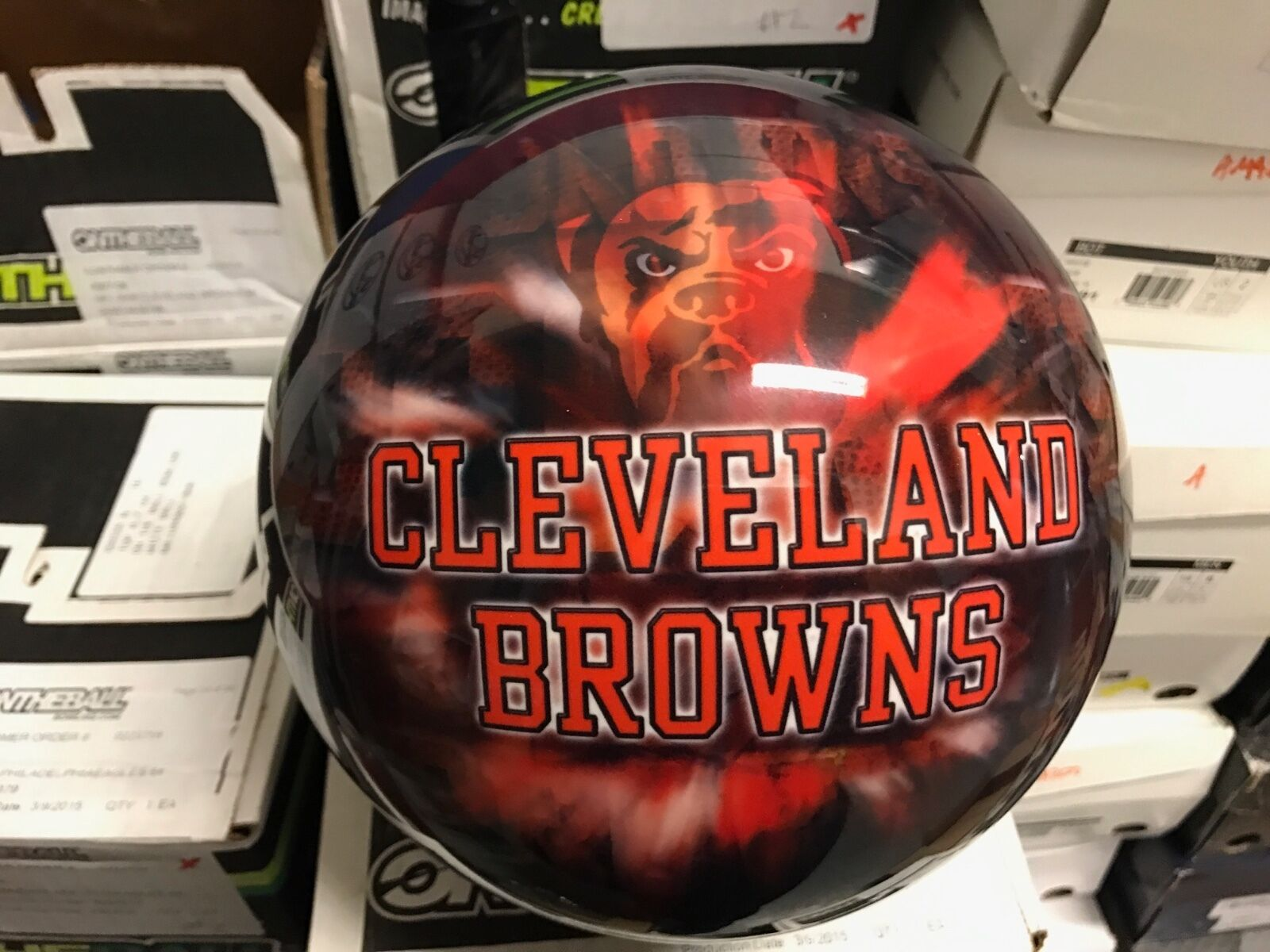 New NFL Cleveland Browns 8Bowling Ball 1st Quality