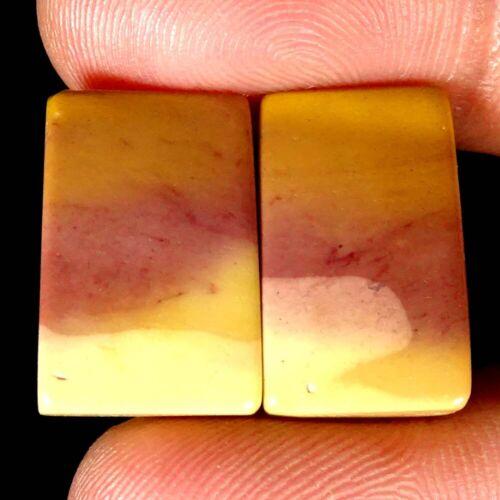 Jaspe mookiate natural par emparejado Oval Pera Elegante Cojín Cab piedras preciosas PK51