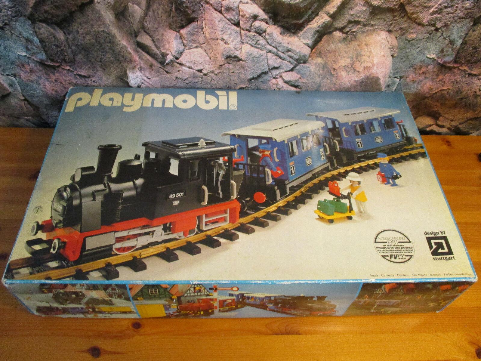 (GO) 4000 Personenzug 2 x Personenwagen + Dampflok + 12 Gleise Eisenbahn LGB OVP
