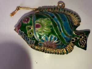 Vintage-Turquoise-Fish-Christmas-Tree-Ornament
