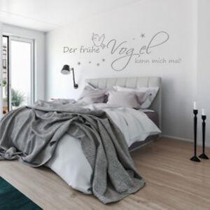 Wandtattoo Wandaufkleber Aa230 Schlafzimmer Der Fruhe Vogel Kann Mich Mal Ebay