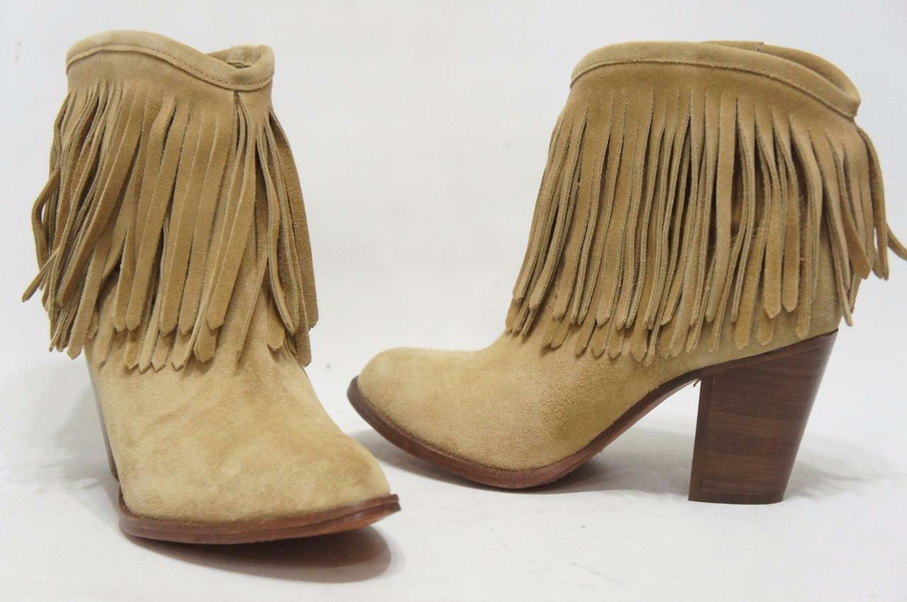 FRYE LLANA FRINGE SHOES BEIGE SHORT Stiefel SHOES FRINGE 8.5 $368 8a4bc9