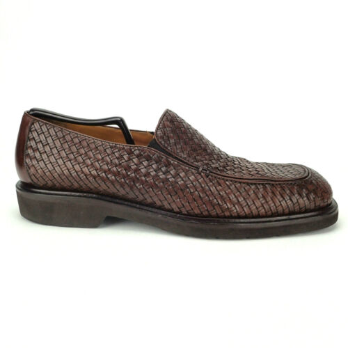 Miguel Angel Mezlan Loafers Woven Brown Leather Sl