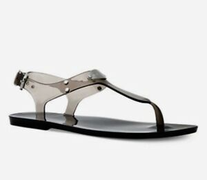 a06d5169d8ca Women Michael Kors Plate Jelly Buckle Up Sandal Clear PVC Smoke ...