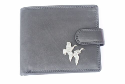Mallard Ducks  Mens Leather Wallet BLACK or Brown Top Quality shooting  Gift 227