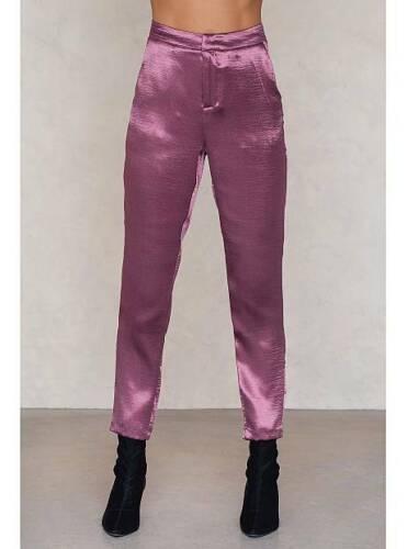 metallici Size 32 Pantaloni Purple kd Party dritti Na pwOxq0x5Yn