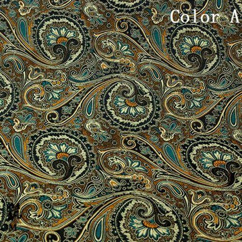 1m floral del damasco Jacquard Brocade Fabric Hazlo tú mismo Material Tela Coser Disfraz De Decoración