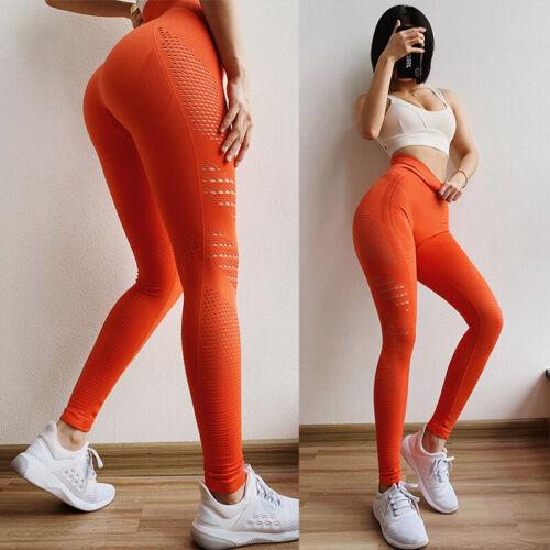 High Waist Gym Leggings Pockets Fitness Running Train Yoga Pants Push Up Ladies