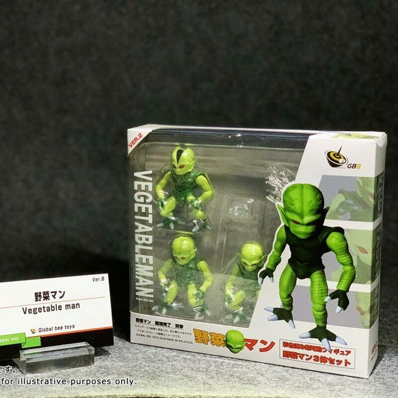 Bandai Dragon Ball Z GBB Celular Minions SHF vegetal hombre Saibamen 3 figuras conjunto B