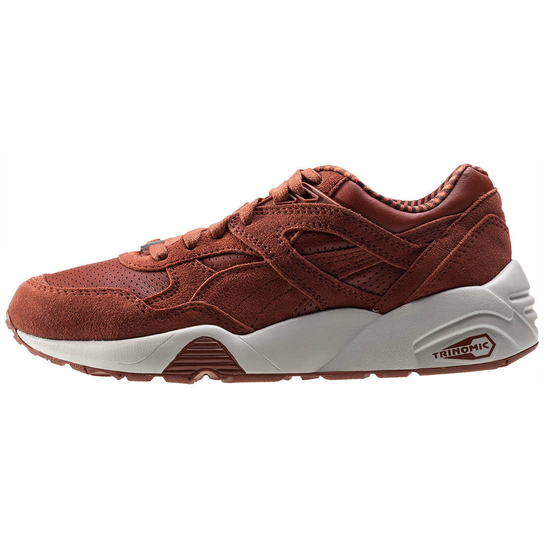 Puma R698 citi marron en Cuir et Daim Baskets Neuves Chaussures Boxed