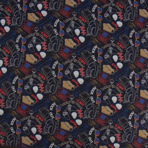 Baumwolljersey Jersey Cool Stuff dunkelblau meliert bunt 1,5m Breite