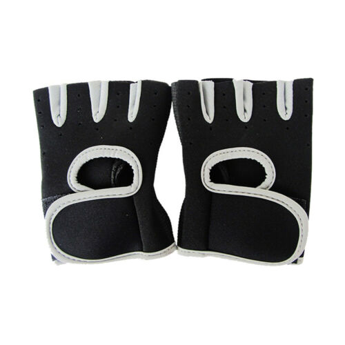 Men Women Half Finger Workout Gym Gloves Sport Weight Lifting Exercise Fitness #