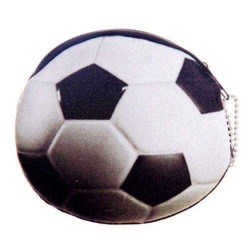 Cute Basketball//Football 3D Printed Bag Zipper Coin Purses Plush Key Purse