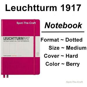 Details about Leuchtturm1917 Dotted Journal Notebook Medium A5 Berry Pink 344809