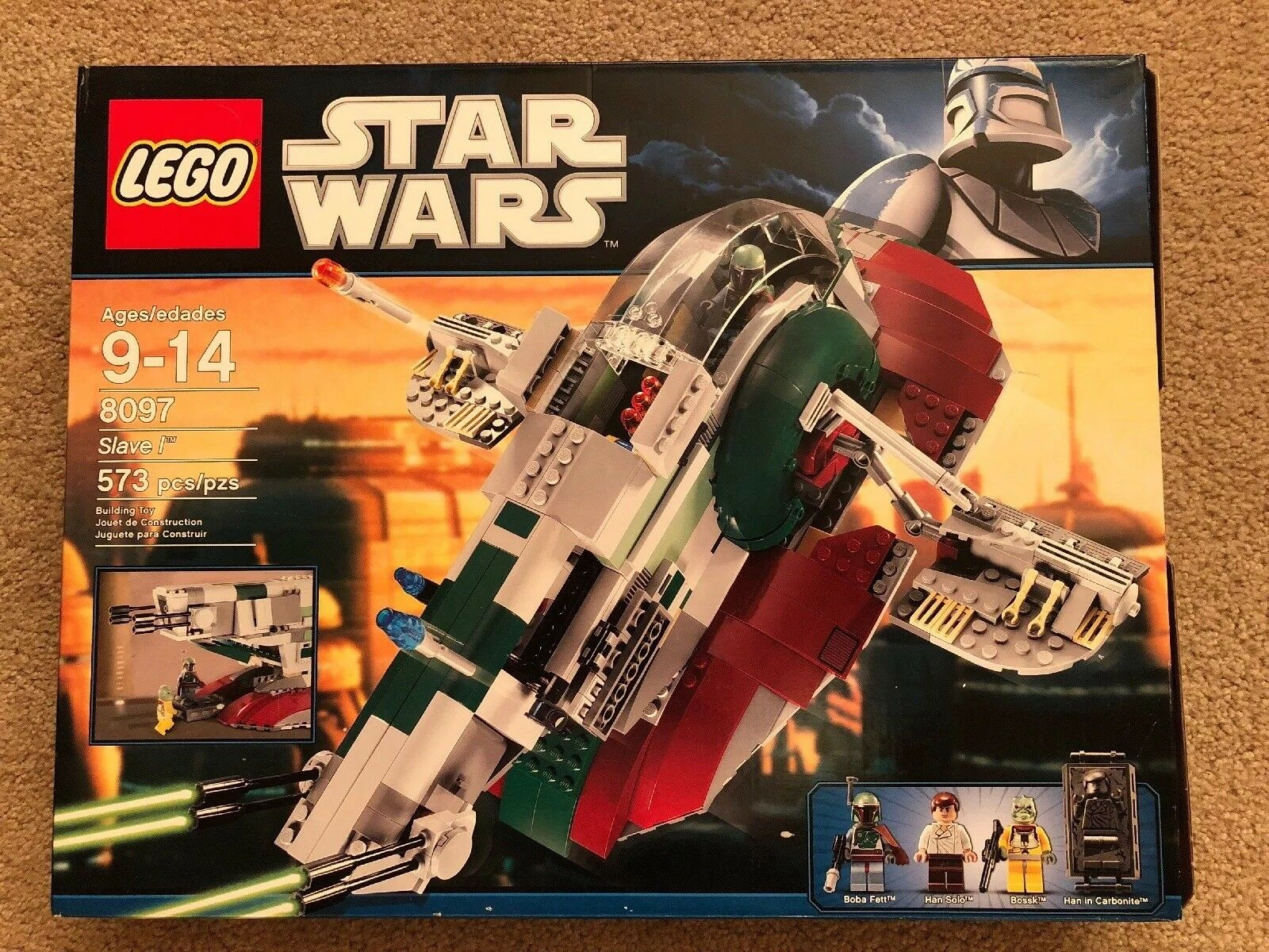 Lego Star Wars 8097 Slave 1, 100% Complete with Instructions and Box