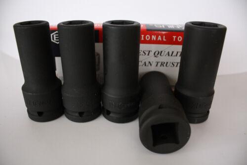 "Genius Tools 3//4/"" Drive METRIC Deep Impact Socket 17mm to 76mm 6 Point"